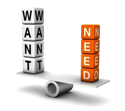 Needs And Wants – images free download